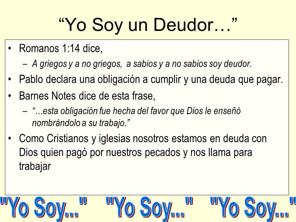 Yo Soy... Yo Soy... Yo Soy... Yo Soy un Deudor…
