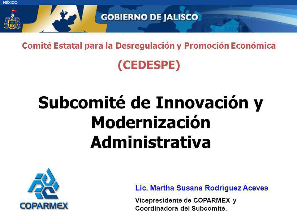 Subcomité de Innovación y Modernización Administrativa