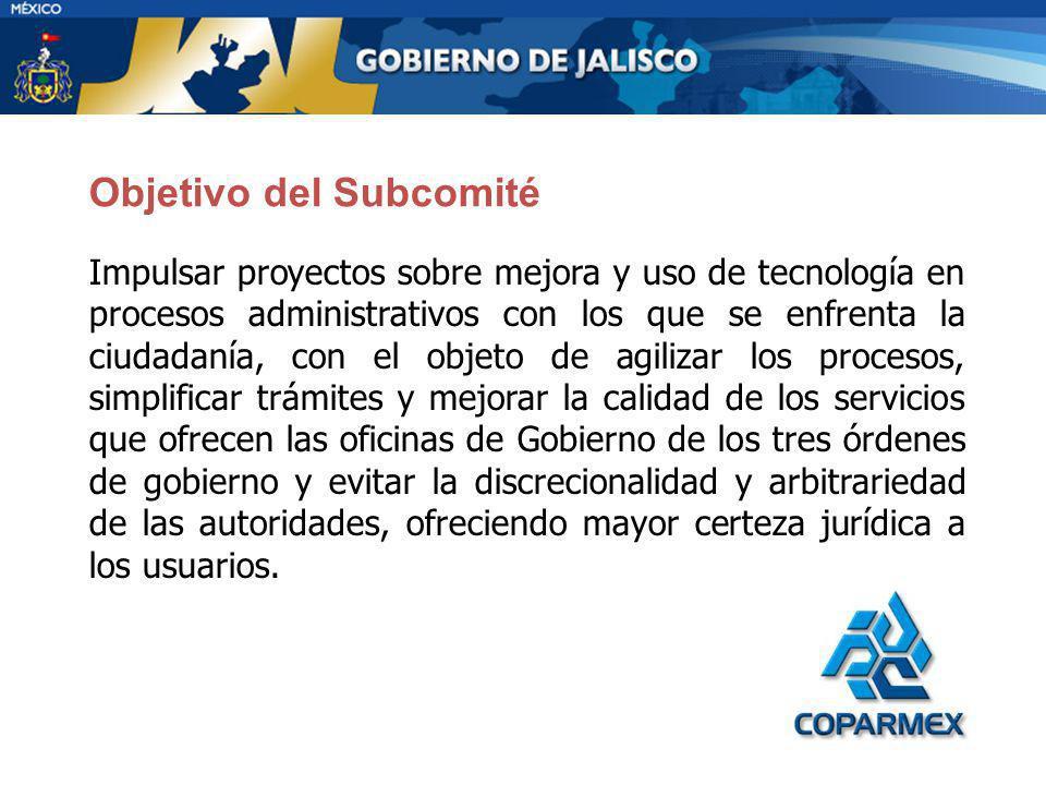 Objetivo del Subcomité