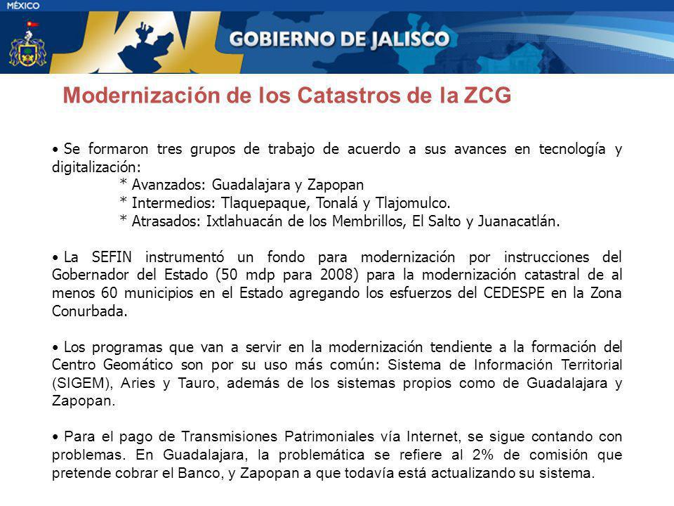 Modernización de los Catastros de la ZCG
