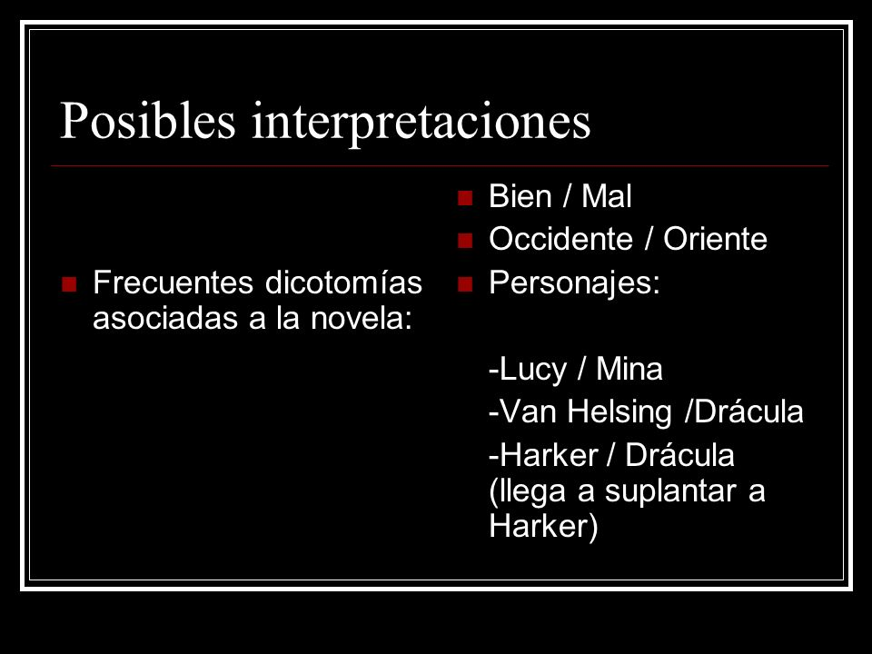 Posibles interpretaciones