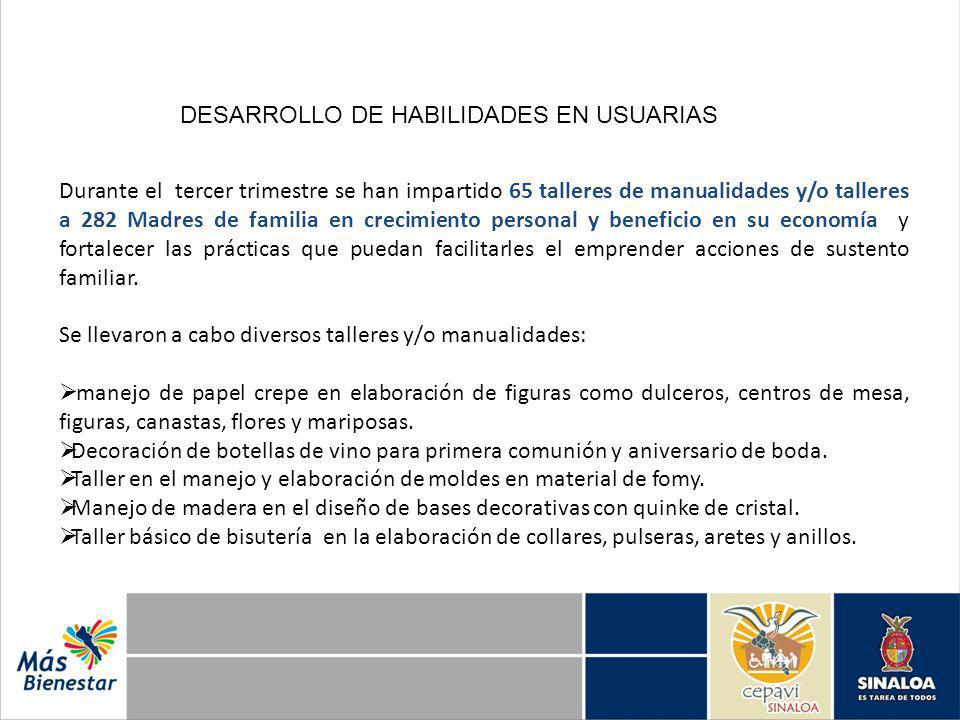 DESARROLLO DE HABILIDADES EN USUARIAS