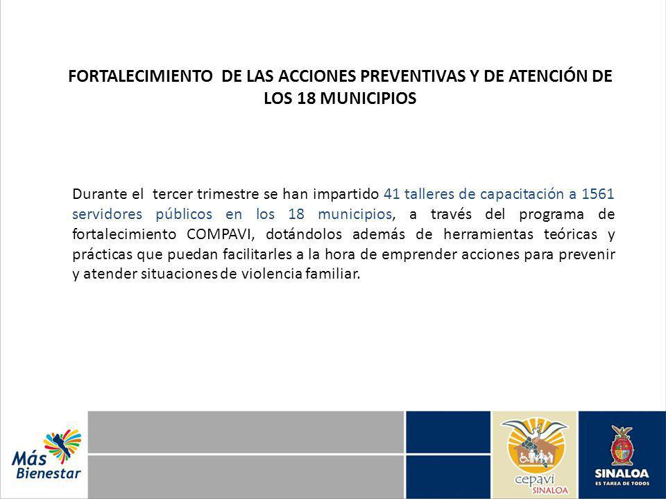 FORTALECIMIENTO DE LAS ACCIONES PREVENTIVAS Y DE ATENCIÓN DE LOS 18 MUNICIPIOS