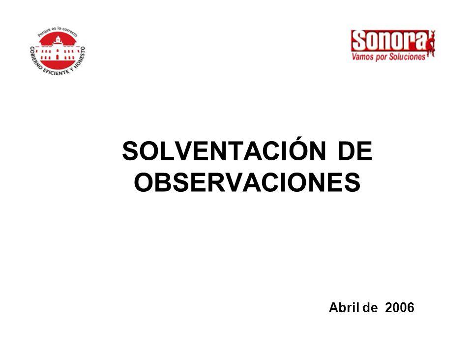 SOLVENTACIÓN DE OBSERVACIONES