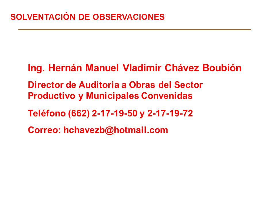 Ing. Hernán Manuel Vladimir Chávez Boubión