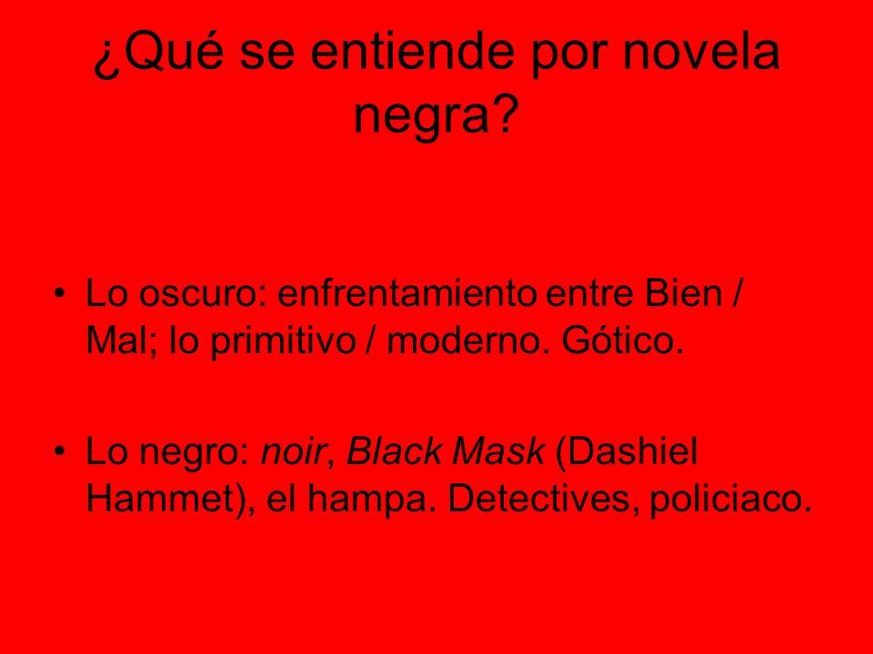 ¿Qué se entiende por novela negra