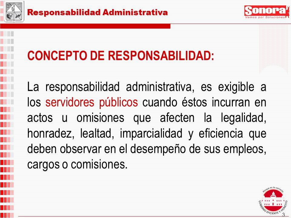 CONCEPTO DE RESPONSABILIDAD: