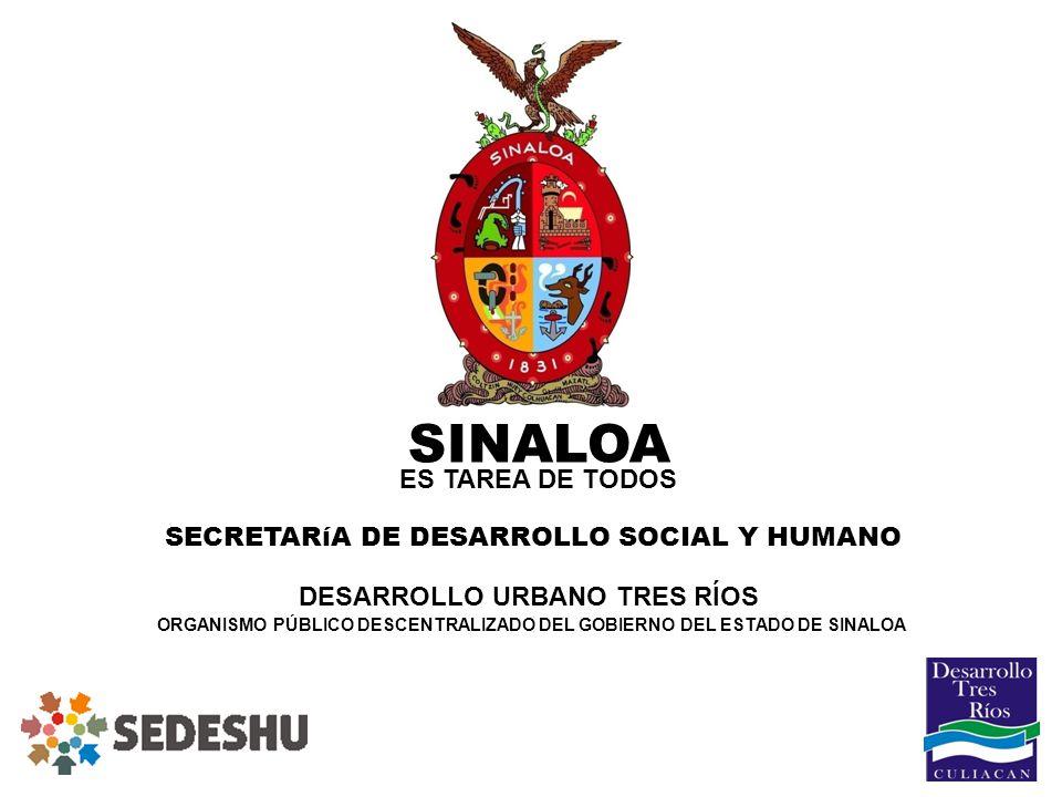 SINALOA ES TAREA DE TODOS SECRETARíA DE DESARROLLO SOCIAL Y HUMANO
