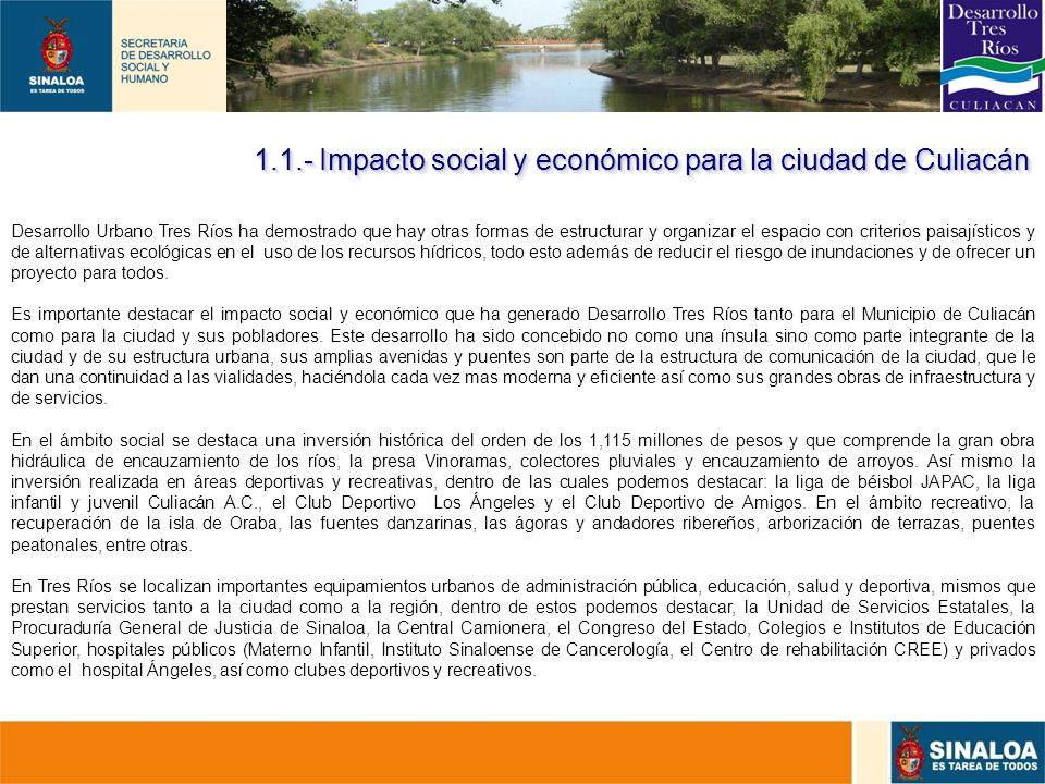 1.1.- Impacto social y económico para la ciudad de Culiacán