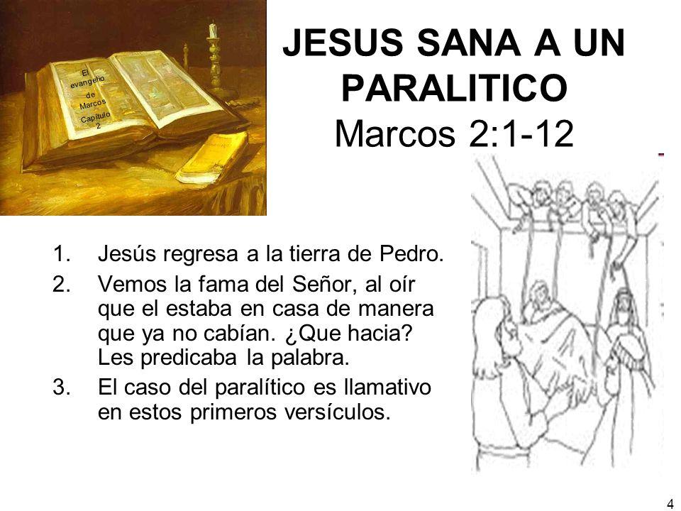 JESUS SANA A UN PARALITICO Marcos 2:1-12