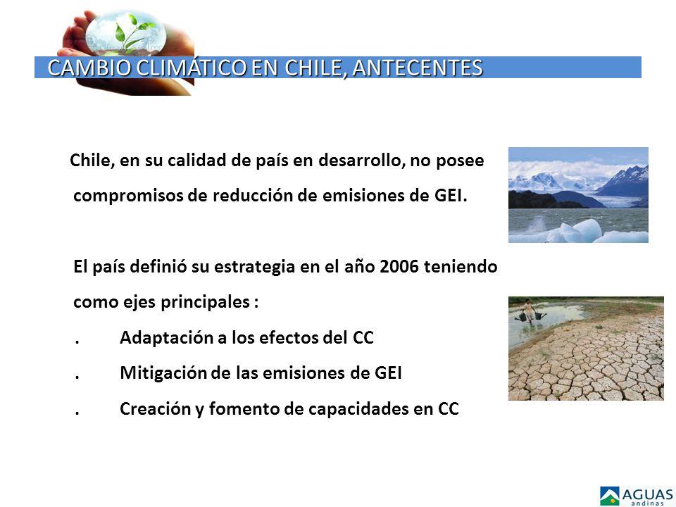 CAMBIO CLIMÁTICO EN CHILE, ANTECENTES