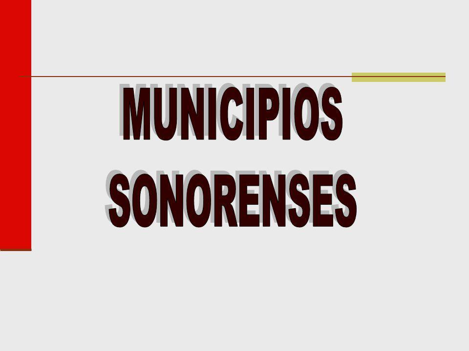 MUNICIPIOS SONORENSES