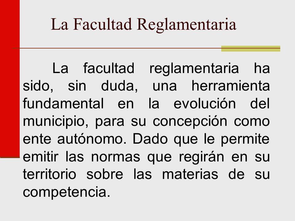 La Facultad Reglamentaria