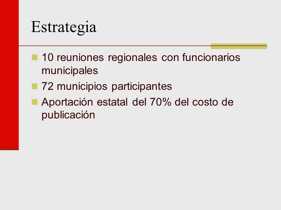 Estrategia 10 reuniones regionales con funcionarios municipales