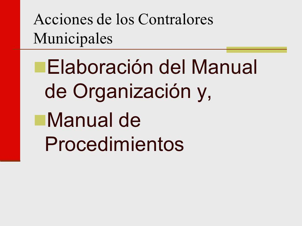 Acciones de los Contralores Municipales