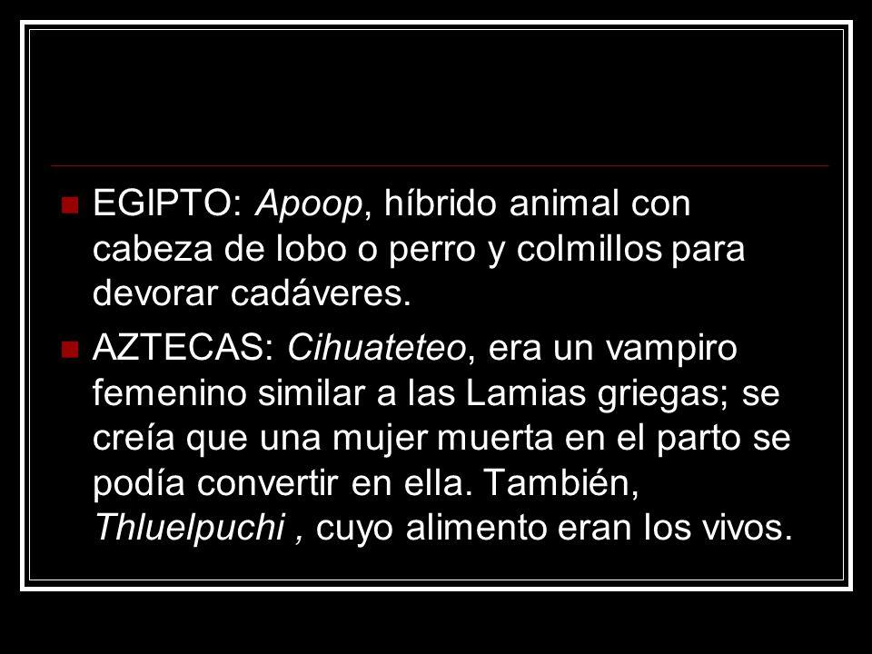 EGIPTO: Apoop, híbrido animal con cabeza de lobo o perro y colmillos para devorar cadáveres.