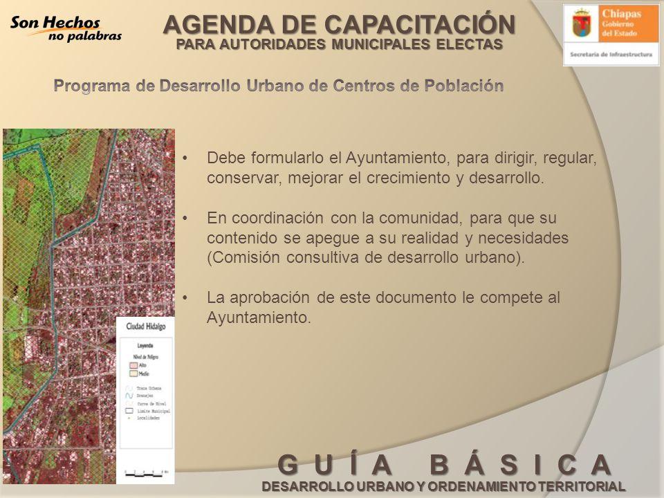 Programa de Desarrollo Urbano de Centros de Población