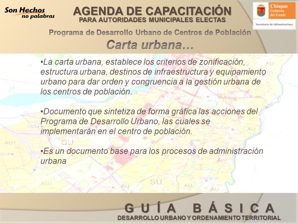 Programa de Desarrollo Urbano de Centros de Población Carta urbana…