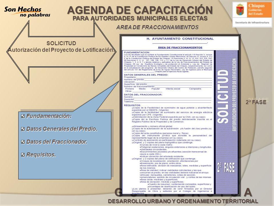 Autorización del Proyecto de Lotificación.
