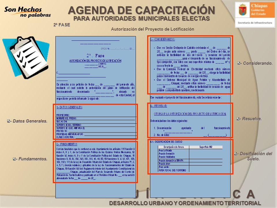 Autorización del Proyecto de Lotificación - Dosificación del Suelo.