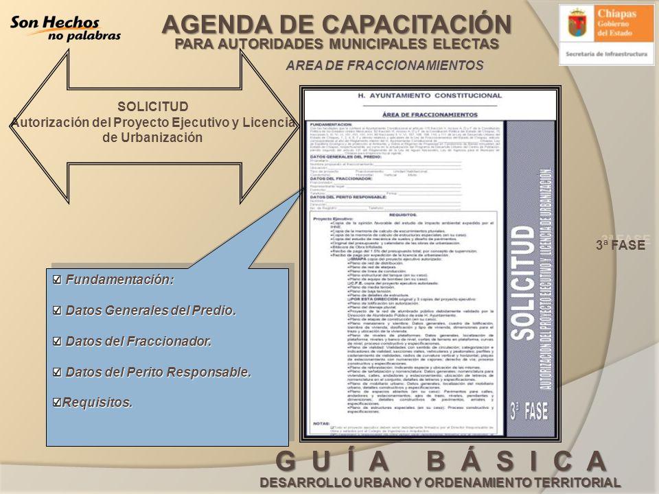 Autorización del Proyecto Ejecutivo y Licencia de Urbanización