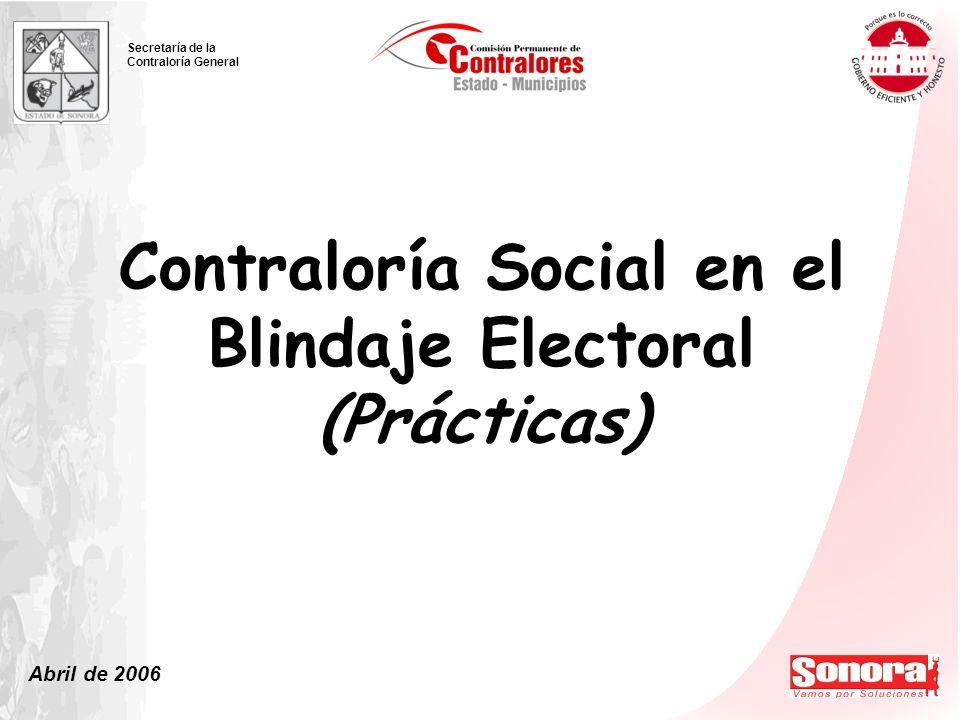 Contraloría Social en el Blindaje Electoral (Prácticas)
