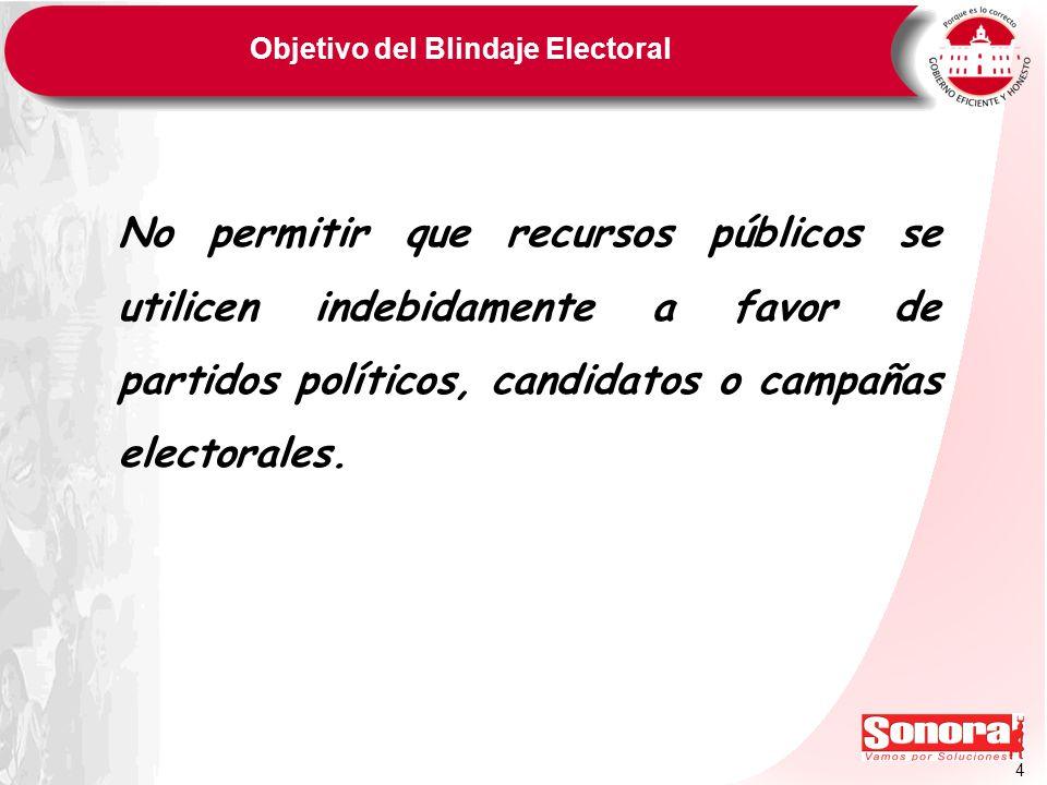 Objetivo del Blindaje Electoral