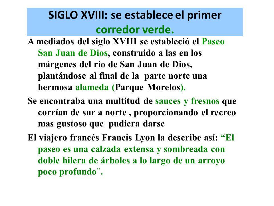 SIGLO XVIII: se establece el primer corredor verde.