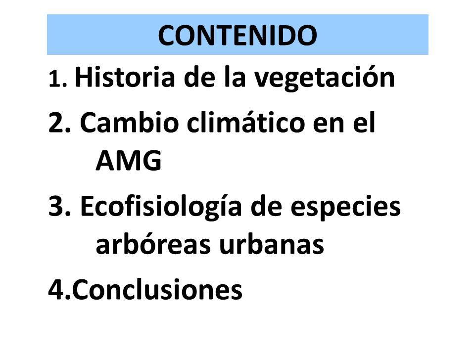 2. Cambio climático en el AMG