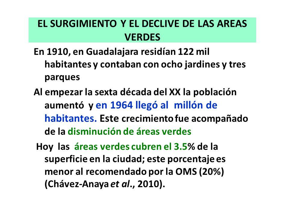 EL SURGIMIENTO Y EL DECLIVE DE LAS AREAS VERDES