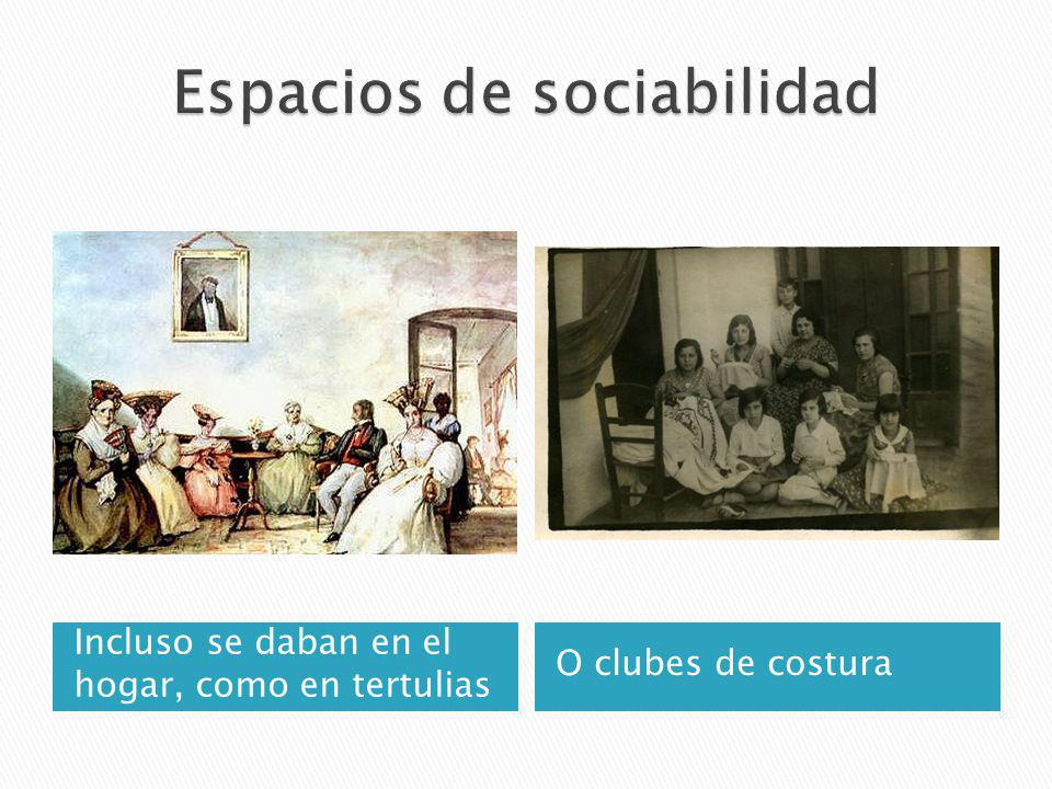 Espacios de sociabilidad