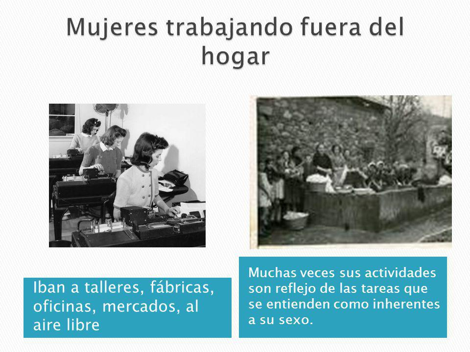 Mujeres trabajando fuera del hogar