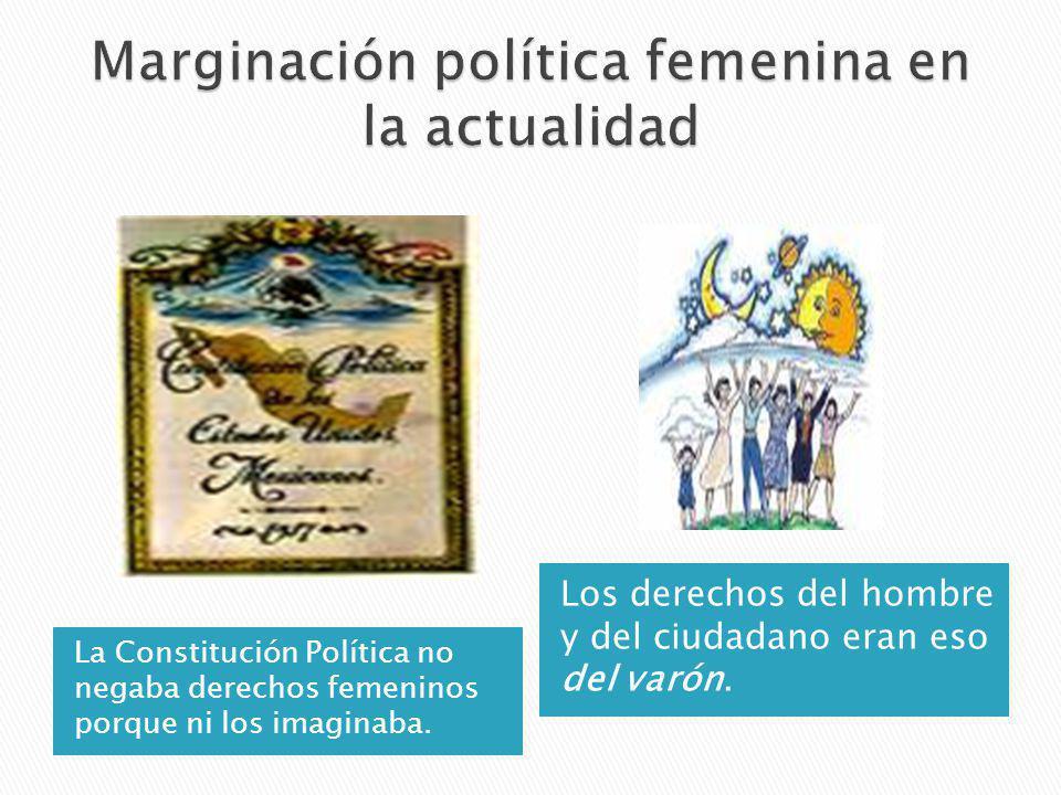 Marginación política femenina en la actualidad
