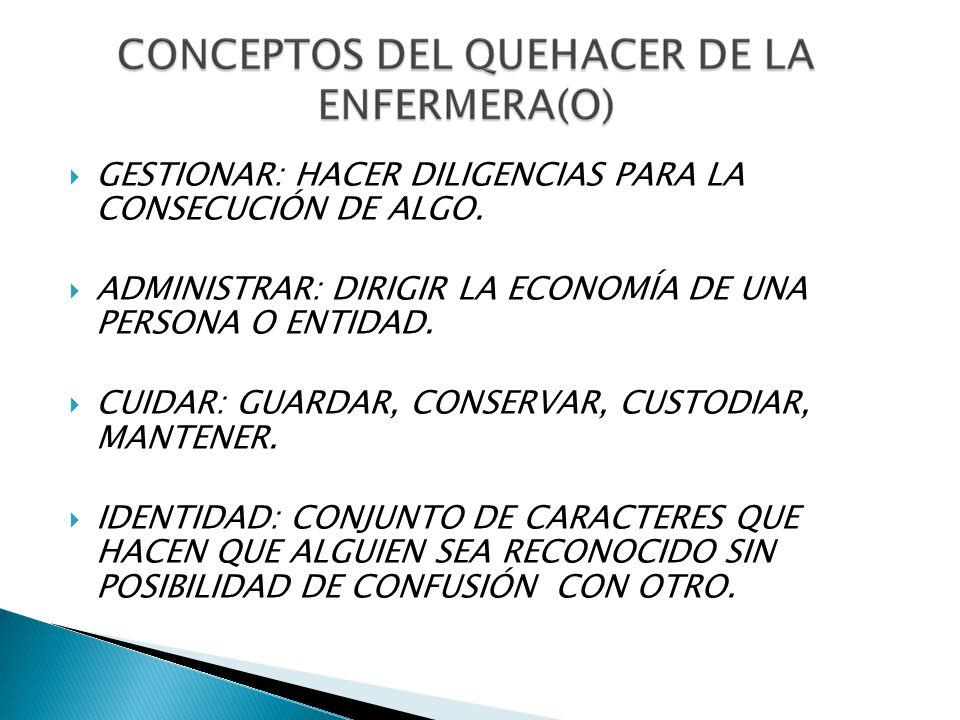 GESTIONAR: HACER DILIGENCIAS PARA LA CONSECUCIÓN DE ALGO.