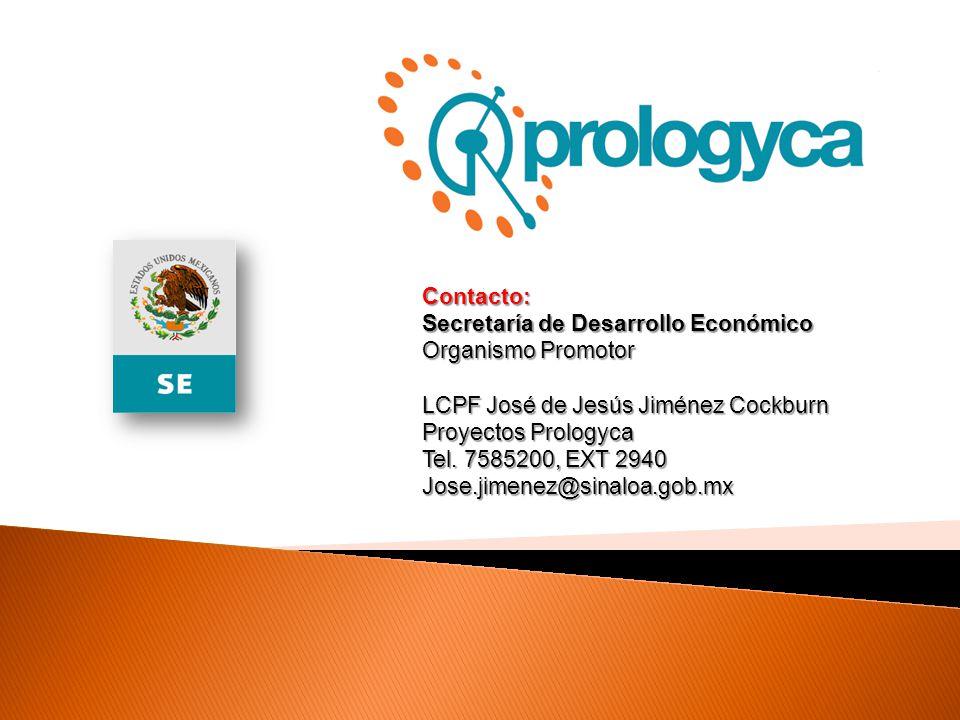 Contacto: Secretaría de Desarrollo Económico. Organismo Promotor. LCPF José de Jesús Jiménez Cockburn.