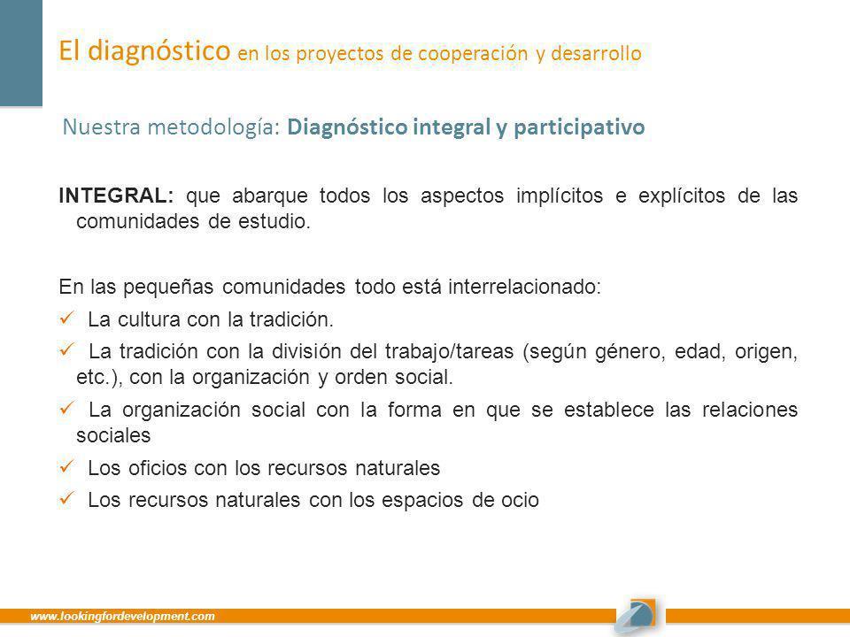 El diagnóstico en los proyectos de cooperación y desarrollo