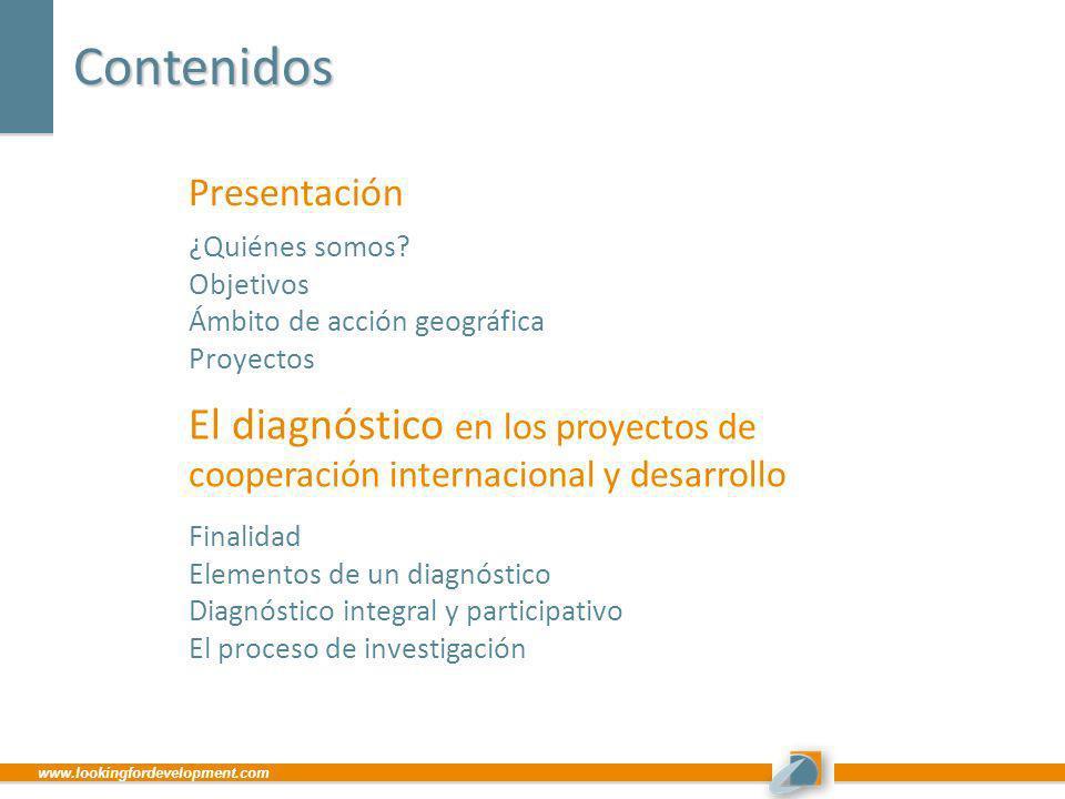 Contenidos Presentación. ¿Quiénes somos Objetivos. Ámbito de acción geográfica. Proyectos.
