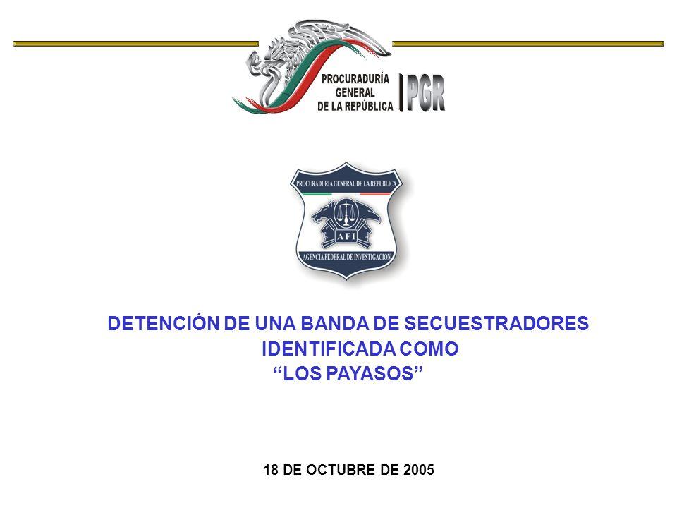 DETENCIÓN DE UNA BANDA DE SECUESTRADORES IDENTIFICADA COMO