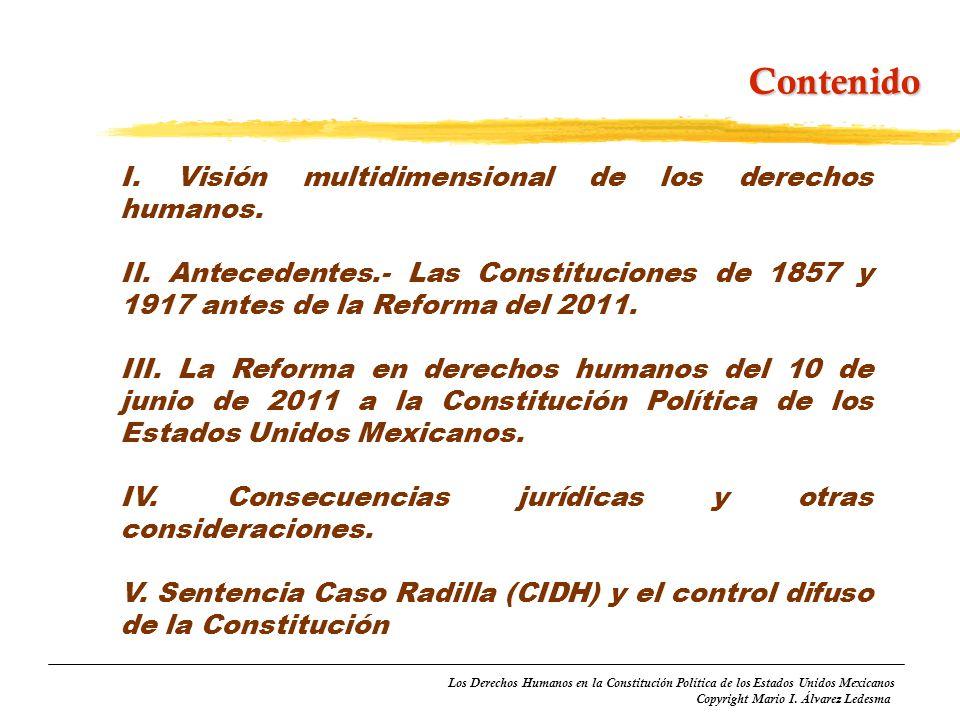 Contenido I. Visión multidimensional de los derechos humanos.