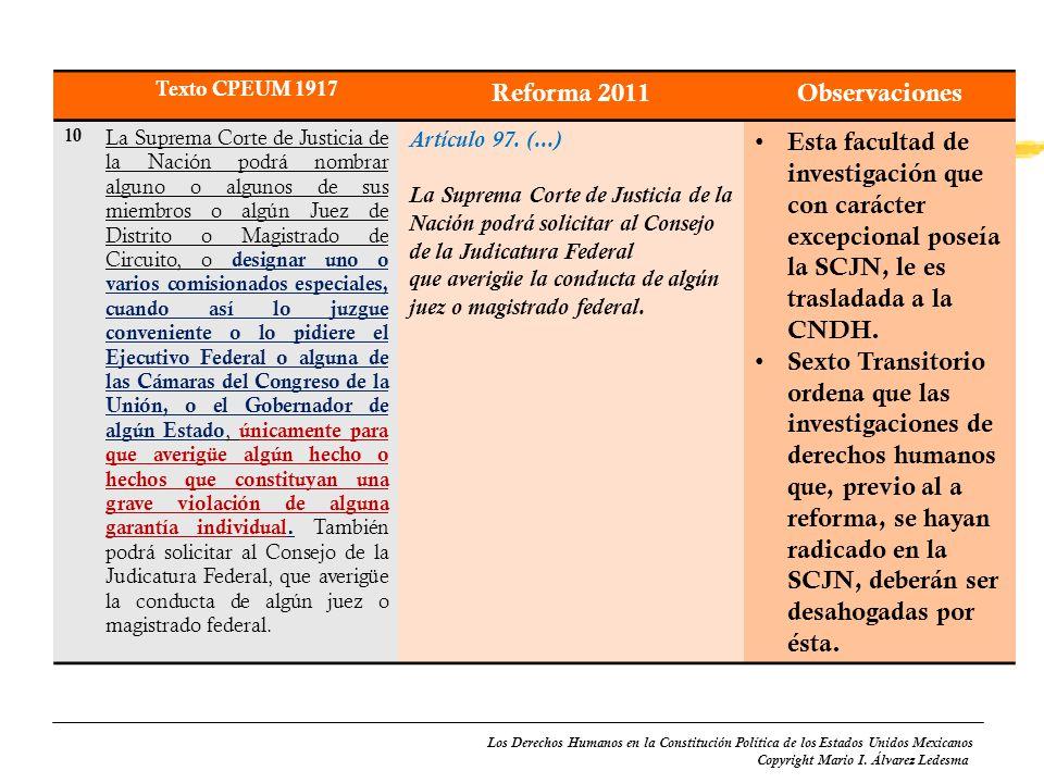 Reforma 2011 Observaciones