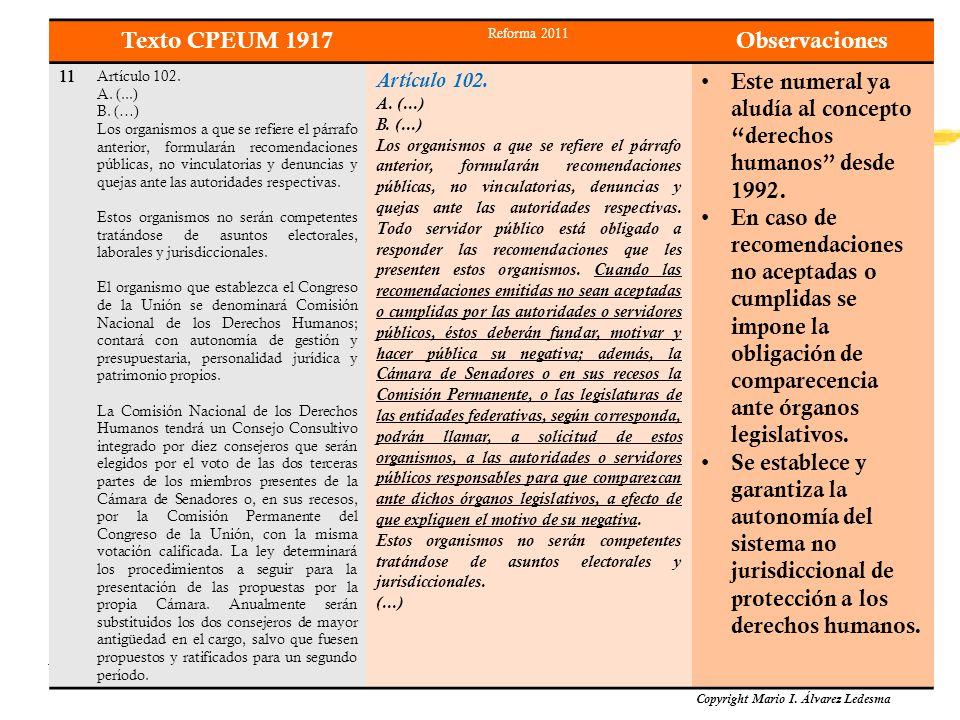 Texto CPEUM 1917 Observaciones