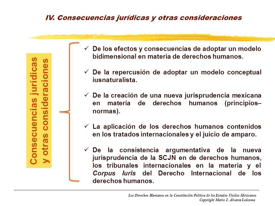 Consecuencias jurídicas y otras consideraciones