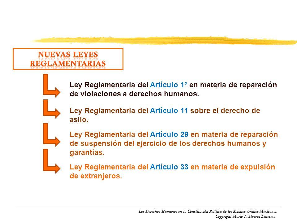 Nuevas Leyes reglamentarias