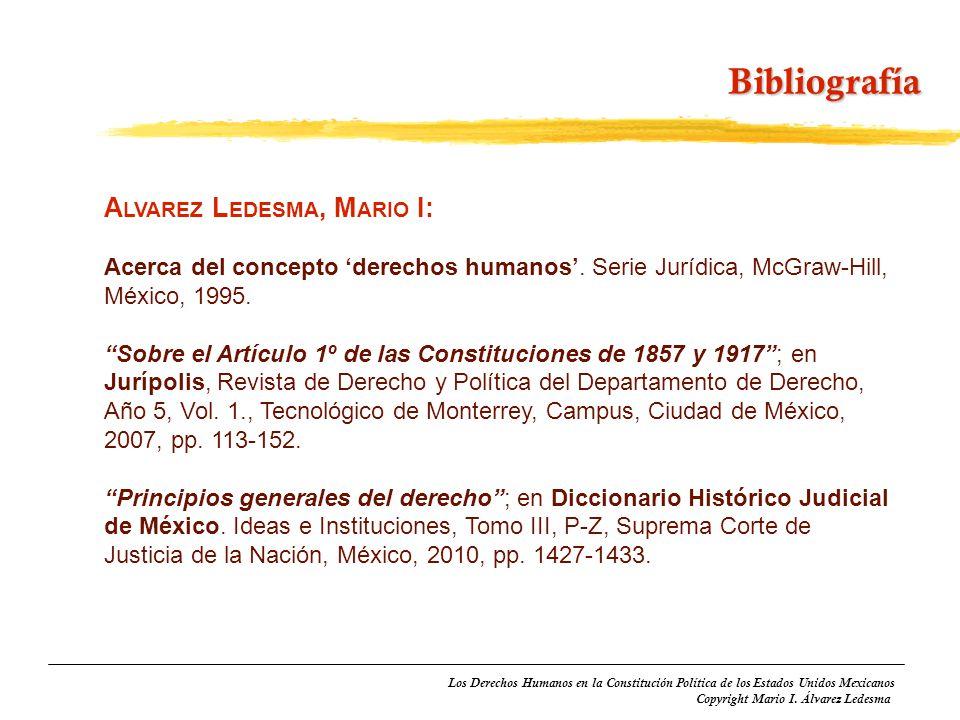 Bibliografía Alvarez Ledesma, Mario I: