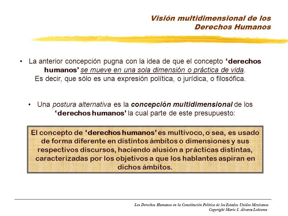 Visión multidimensional de los Derechos Humanos