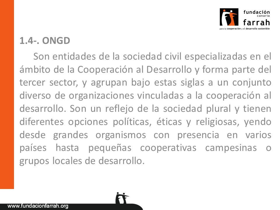 1.4-. ONGD