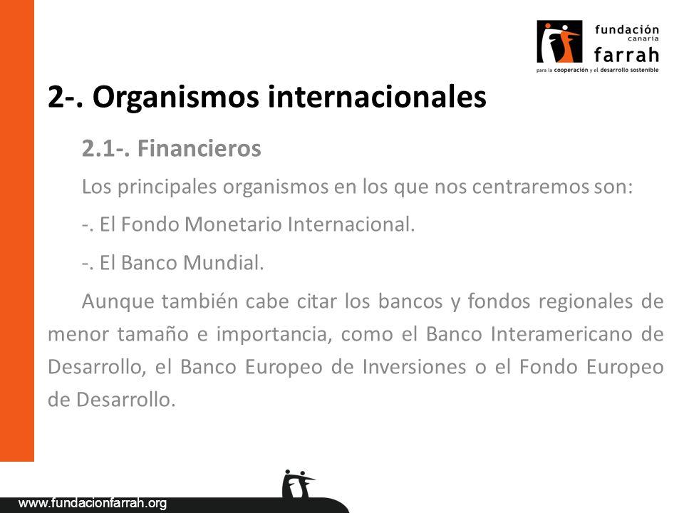 2-. Organismos internacionales