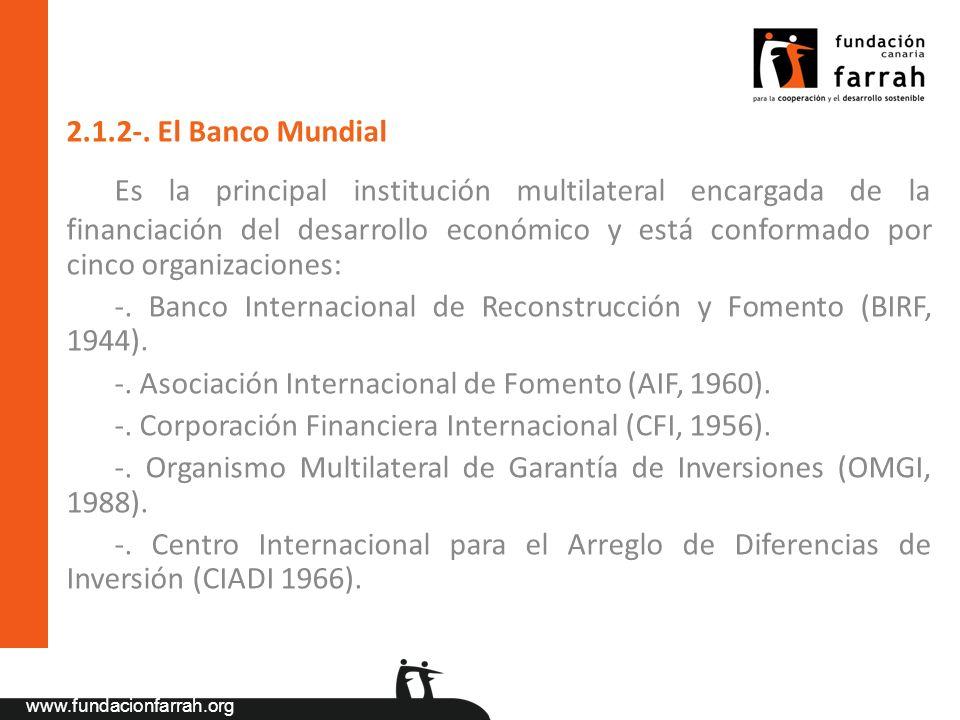 2.1.2-. El Banco Mundial