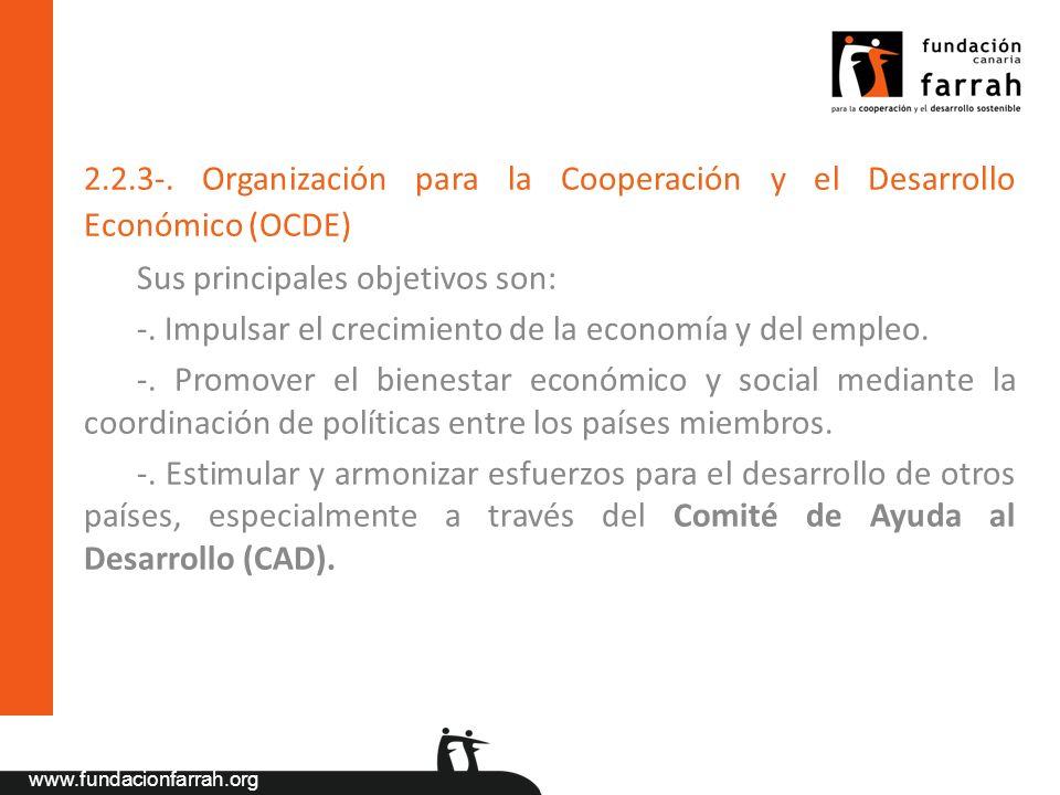 2.2.3-. Organización para la Cooperación y el Desarrollo Económico (OCDE)
