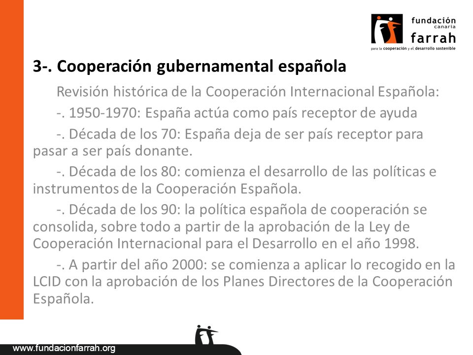 3-. Cooperación gubernamental española